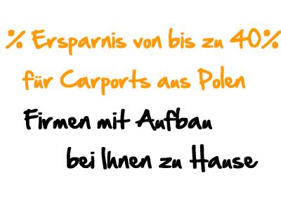 Carports aus Polen – Qualität direkt vom Profi günstig kaufen